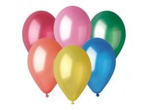 """Balónek 26cm/10""""  #082 metalický barevný mix"""