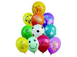 """Balónek s potiskem (26cm/10"""") pastel (100ks/bal)"""