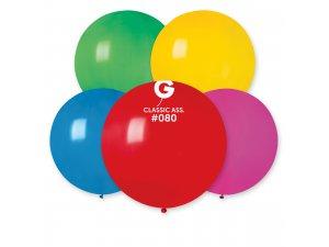 """Balónek 80cm/31""""  #080 barevný mix"""