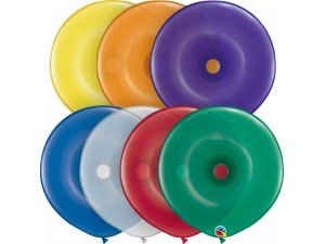 "16""  Balónek Qualatex kruh MIX DRAHOKAMŮ (bal.50ks)"