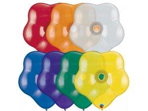 """16""""  Balónek Qualatex  kvítek - MIX DRAHOKAMŮ (bal.50ks)"""