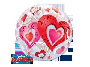 "22"" bublina  -ČERVENÁ SRDCE A ORNAMENTY - Qualatex – Červená srdce a ornamenty 222_33909.jpg"