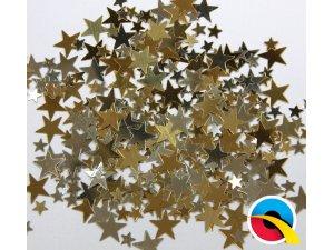 Konfety - zlaté a stříbrné hvězdy