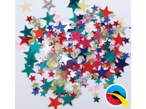 Konfety - hvězdy mix barev