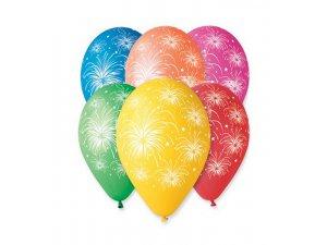 Balónek pastel 30 cm hvězdy2 potisk (100ks/bal)