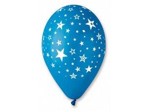 Balónek pastel 30 cm hvězdy potisk(100ks/bal)