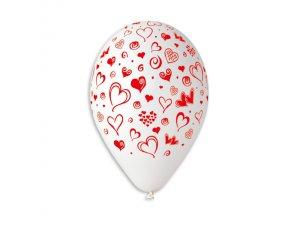 Balónek pastel 30 cm srdce S potisk (100ks/bal)