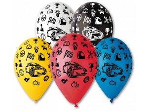Balónek pastel 30 cm auta potisk (100ks/bal)