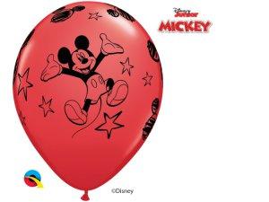 """Balónek Qualatex 12"""" potisk MICKEY MOUSE (6 ks/bal)"""
