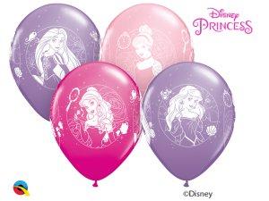 "Balónek Qualatex 12"" potisk Disney PRINCEZNY (6 ks/bal)"
