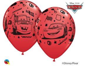 """Balónek Qualatex 12"""" potisk AUTA (6 ks/bal)"""