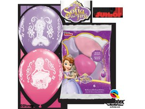 "Balónek Qualatex 12"" potisk Disney SOFIE (6 ks/bal)"