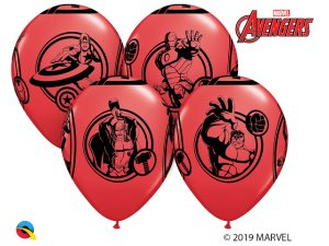 "Balónek Qualatex 12"" potisk Marveľs AVENGERS (6 ks/bal)"