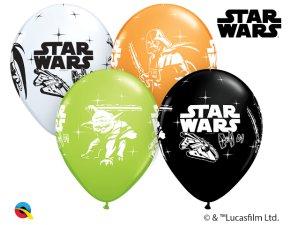 "Balónek Qualatex 12"" potisk HVĚZDNÉ VÁLKY - STAR WARS (6 ks/bal)"