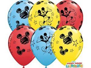 """Balónek Qualatex 11"""" potisk MICKEY MOUSE (25ks v balení)"""
