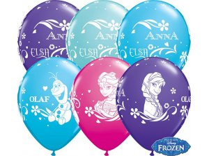 """Balónek Qualatex 11"""" potisk LEDOVÉ KRÁLOVSTVÍ  (25ks v balení)"""