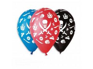 Balónek pastel 30 cm piráti potisk (100ks/bal)