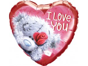 """18"""" fóliový balónek srdce - Tatty TEDDY ILY láska"""