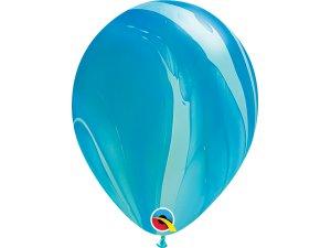 """11"""" Balónek Qualatex mramor modrý 1ks"""