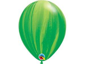 """11"""" Balónek Qualatex mramor zelený 1ks"""