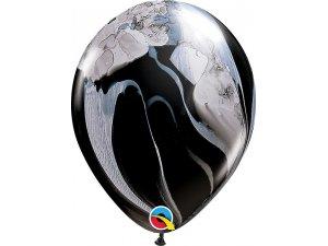 "11"" Balónek Qualatex mramor černo-bílý 1ks"