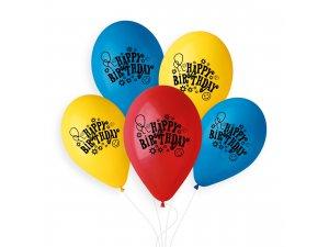 "OB balónky GS90 ""BDAY"" 10 ks"