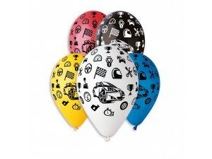 OB balónky GS110 auta 6 ks