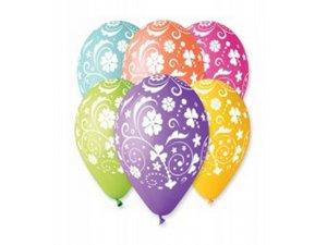 Balónek pastel 30 cm vzor potisk (100ks/bal)