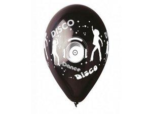 Balónek pastel 30 cm DISCO potisk (100ks/bal)