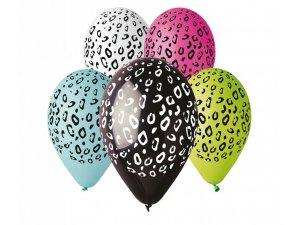 Balónek pastel 30 cm gepard potisk (100ks/bal)