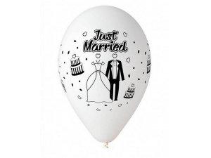 Balónek pastel 30 cm potisk svatba (100ks/bal)