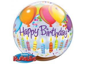 """22"""" bublina - Happy Birthday"""