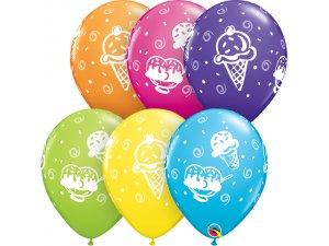 """Balónek Qualatex 11"""" potisk tropický - Zmrzliny (25ks v balení)"""