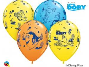 """Balónek Qualatex 12"""" potisk Disney PIXAR DORY & přátelé (6 ks/bal)"""