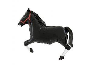 """MINI 14"""" Dostihový kůň - černý"""