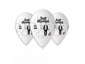 OB balónky GS110 svatba bílá 6 ks