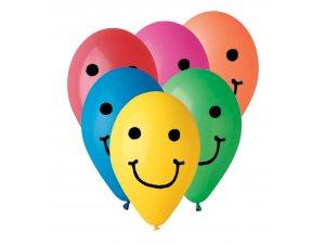 """Balónek potisk Smile (26cm/10"""") pastel (100ks/bal)"""