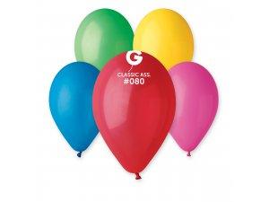 OB balónky G120 - 6 balónků mix barev
