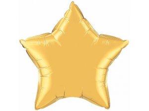 """36"""" balónek fóliová hvězda - metalická zlatá"""