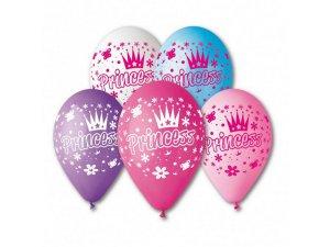 Balónek pastel 30 cm PRINCESS potisk (100ks/bal)