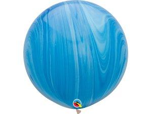 "30""  Balónek - Modrý achát"