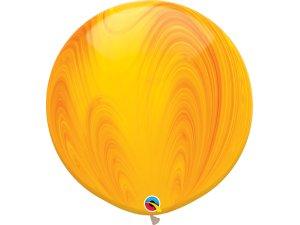 """30""""  Balónek - Oranžový achát"""