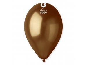 """Balónek 26cm/10"""" #066 hnědý"""