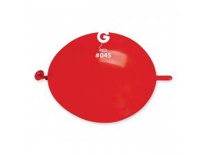 """Balónek spojovací 16cm/6"""" #045 červený (100ks/bal)"""