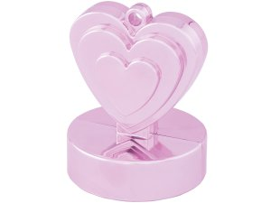 Závaží na balónky srdce růžové