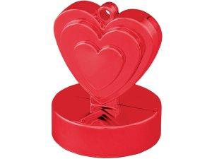 Závaží na balónky srdce červené