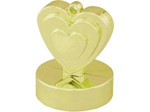 Závaží na balónky srdce zlaté