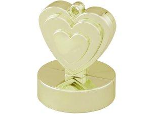 Závaží na balónky srdce champagne ivory
