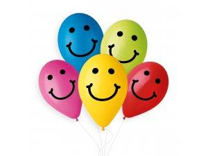 OB balónky GS90 usměvavý obličej 10 ks