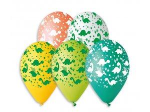 Balónek pastel 30 cm DINO potisk (100ks/bal)